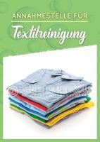 Annahmestelle für Textilreinigung Werbebanner   Poster für Reinigung