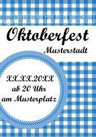 Oktoberfest Plakat | Werbe-Plakat fürs Oktoberfest