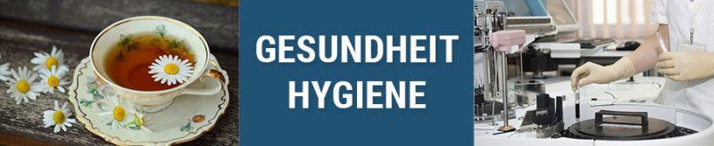 Banner für Gesundheit und Hygiene