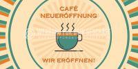 2:1 | Cafe Neueröffnung Poster | Werbetafel für Cafes | 2 zu 1 Format