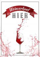 Weinverkauf hier Poster | Werbeposter für Weinverkauf