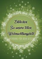 Weihnachtsangebote Poster | Werbe-Poster für Angebote