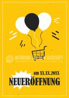 Neueröffnung Poster | Werbeaufkleber für Neueröffnung