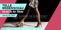 2:1 | Tolle Modenschau Poster | Werbebanner für Geschäfte | 2 zu 1 Format