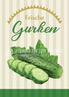 Frische Gurken Plakat | Werbeposter Gemüse