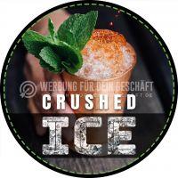 Rund | Crushed Ice Plakat | Werbetafel für Geschäft | Rundformat