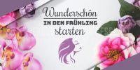 2:1 | Wunderschön in den Frühling Werbeposter | Plakat für Kosmetikstudio | 2 zu 1 Format