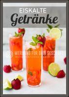 Eiskalte Getränke Plakat | Werbeposter Getränke