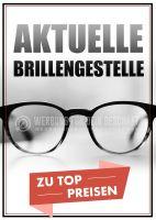 Aktuelle Brillengestelle Poster | Werbeposter für Optiker