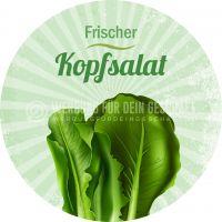 Rund   Frischer Kopfsalat Poster   Werbeschild Kopfsalat   Rundformat