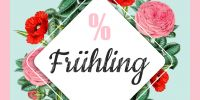 2:1 | % Frühling Plakat | Werbeplakat für Geschäfte | 2 zu 1 Format