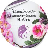 Rund | Wunderschön in den Frühling Werbeposter | Plakat für Kosmetikstudio | Rundformat