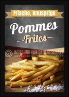 Pommes Poster | Werbebanner Imbiss
