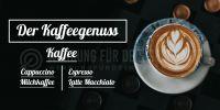 2:1 | Kaffeegenuss Plakat | Werbeposter Kaffee | 2 zu 1 Format