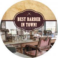 Rund | Best Barber Plakat | Werbeplakt drucken lassen | Rundformat
