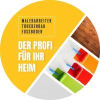 Rund   Der Profi für Ihr Heim Poster   Werbebanner   Rundformat