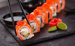 Sushi ist ein beliebtes Gastronomie Gericht