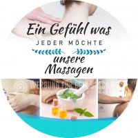 Rund | Ein Gefühl was jeder möchte Plakat | Werbeplakat für Massagen | Rundformat