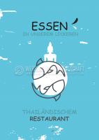 Essen im thailändischem Restaurant Poster | Werbung