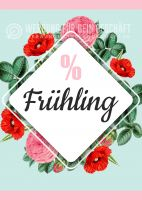 % Frühling Plakat