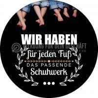 Rund   Das passende Schuhwerk Poster   Werbeposter für Schuhgeschäft   Rundformat