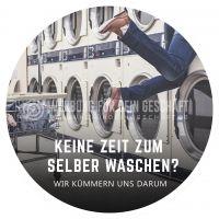 Rund | Keine Zeit zum Waschen Poster | Plakat für Reinigungsservice | Rundformat