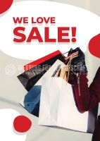 We love SALE! Plakatwerbung | Poster auch in DIN A0