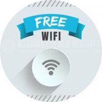 Rund | Free WIFI Poster | Werbeplakat für Plakatständer | Rundformat