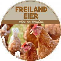 Rund | Freiland Eier Plakat | Werbeposter | Rundformat