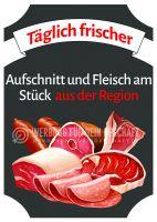 Aufschnitt und Fleisch aus der Region Poster | Werbeposter für Metzger