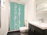 Sichtschutzfolie | Fensterfolie Bambuszweige | Bambuszweigenornament