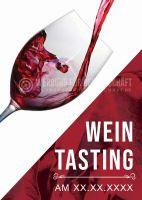Wein Tasting Poster | Werbeposter für Wein
