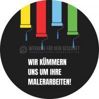 Rund | Malerarbeiten Werbeposter | Werbebanner | Rundformat