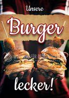 Unsere Burger - lecker Werbebanner | Plakat auch in DIN A 0