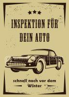 Inspektion für dein Auto Werbetafel | Werbung für Plakatständer