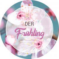 Rund | Der Frühling Poster | Werbeschild für den Frühling | Rundformat