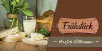 2:1   Frühstück Poster   Werbebanner für dein Cafe   2 zu 1 Format