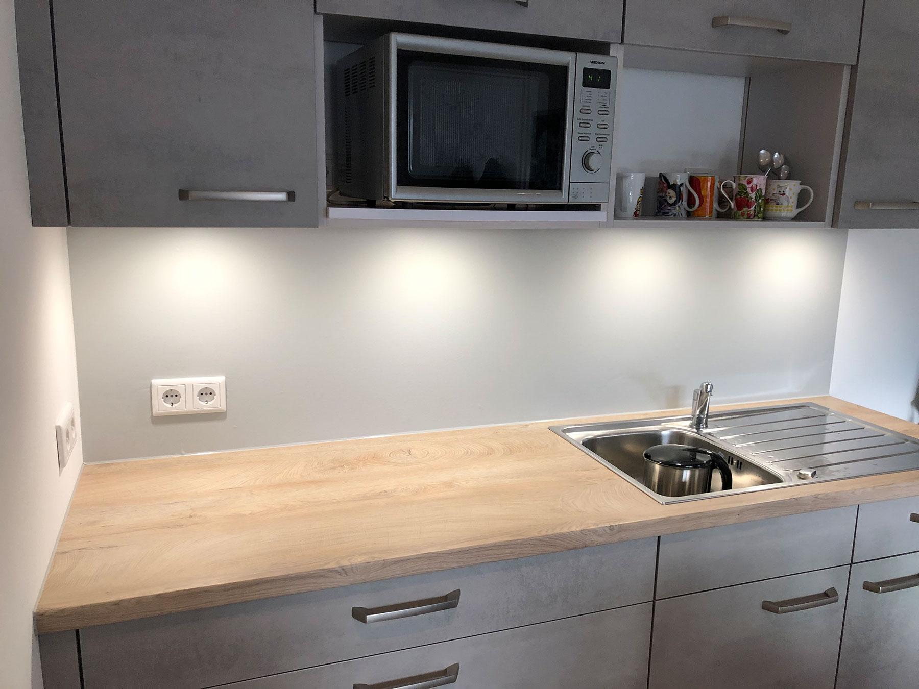 5 m 4,99 € //m Folie Küche lichtgrau matt 61,5 cm Küchenfolie