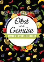 Obst und Gemüse Poster | Werbebanner Obst und Gemüse