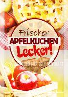 Frischer Apfelkuchen Plakat | Gedeckter Apfelkuchen