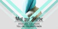 2:1 | Mut zur Farbe Plakat | Werbebanner für Friseure | 2 zu 1 Format