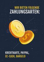 Zahlungsarten Poster   Werbeposter für Geschäfte