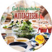 Rund | Bürgerliches Mittagessen Werbeposter | Plakatwerbung für Imbiss | Rundformat