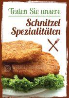 Schnitzel Spezialitäten Plakat