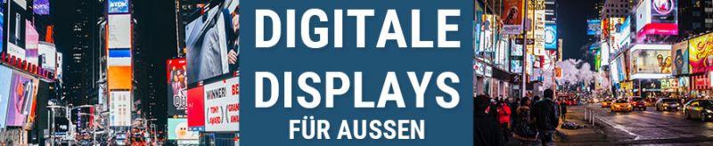 Digitale Displays für die Außenwerbung