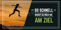 2:1 | Schnell am Ziel Plakat | Werbetafel für Fitnessstudios | 2 zu 1 Format