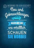 Neu und Gebrauchtwagen Poster