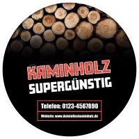 Rund   Kaminholz supergünstig Werbeposter   Poster kaufen   Rundformat