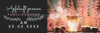 3:1 | Apfelsaft pressen Plakat | Werbeplakat für Events | 3 zu 1 Format