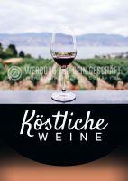 Köstliche Weine Plakat | Werbeplakat für Wein